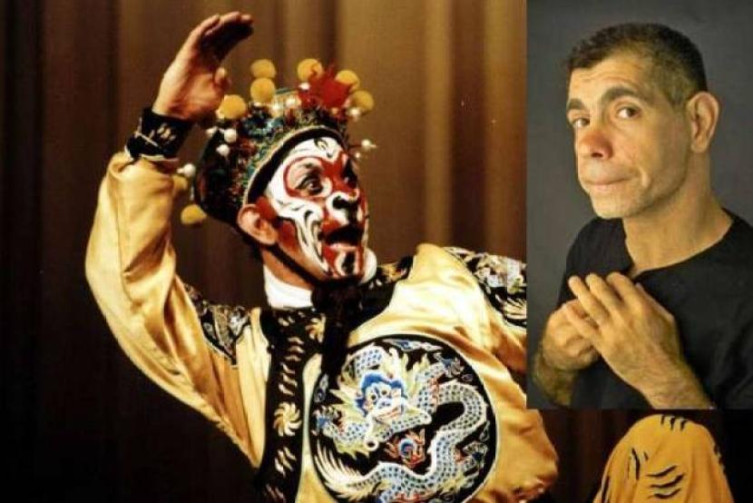 Gaffar Pourazar, a British stage actor and a Peking opera fanatic