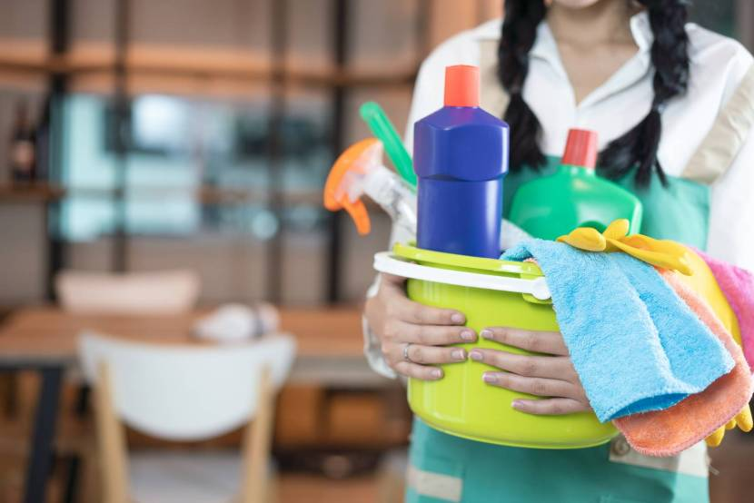 Household service helpers gingerly return to work